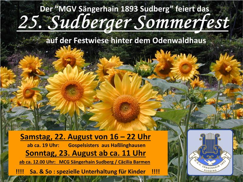 Plakat Sommerfest 2105 klein